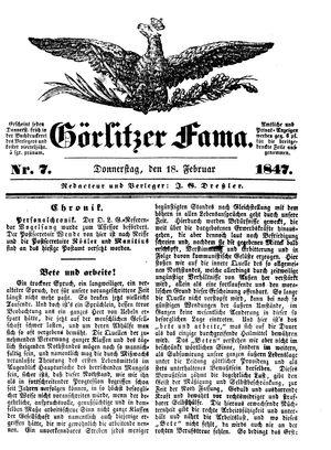 Görlitzer Fama vom 18.02.1847