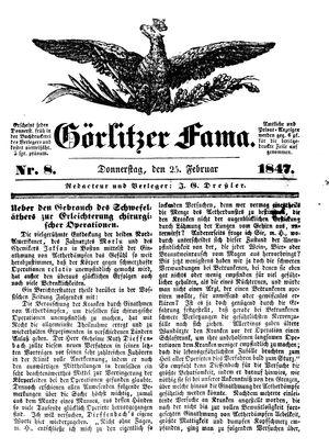 Görlitzer Fama vom 25.02.1847