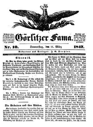 Görlitzer Fama vom 11.03.1847