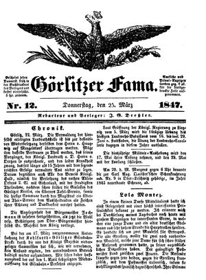 Görlitzer Fama vom 25.03.1847