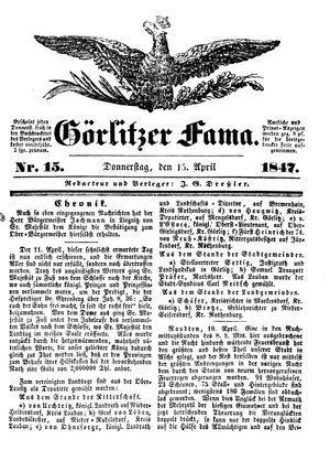 Görlitzer Fama vom 15.04.1847