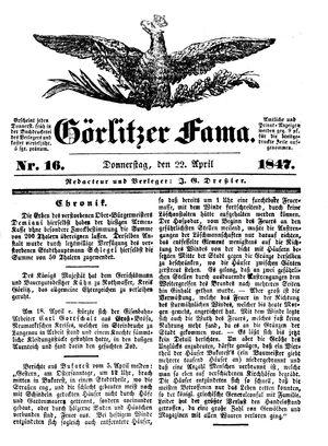 Görlitzer Fama vom 22.04.1847