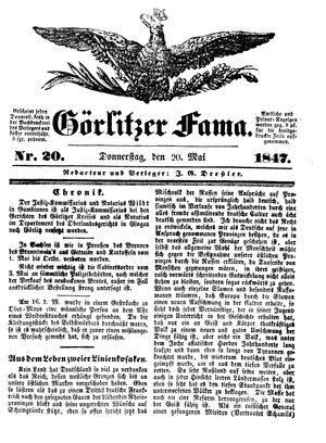 Görlitzer Fama vom 20.05.1847