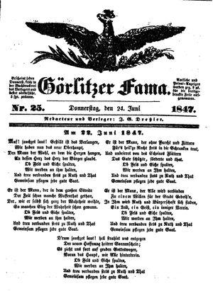 Görlitzer Fama vom 24.06.1847