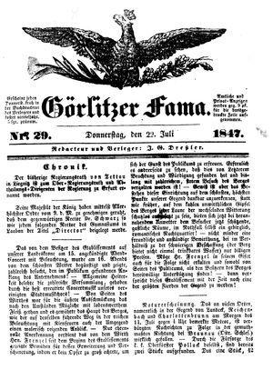 Görlitzer Fama vom 22.07.1847
