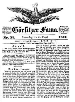 Görlitzer Fama vom 12.08.1847