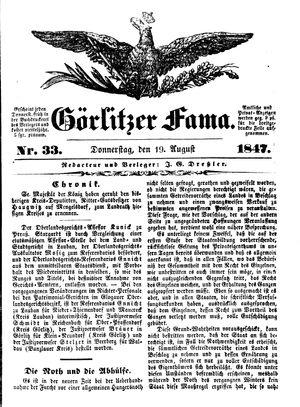Görlitzer Fama vom 19.08.1847