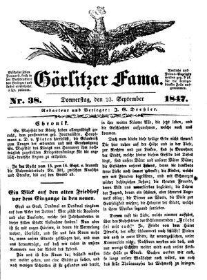 Görlitzer Fama vom 23.09.1847