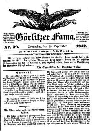 Görlitzer Fama vom 30.09.1847