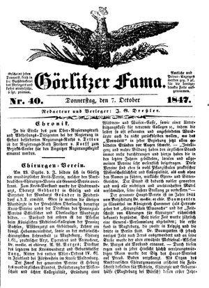 Görlitzer Fama vom 07.10.1847