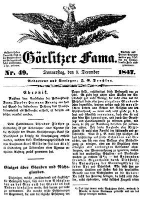 Görlitzer Fama vom 09.12.1847