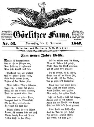 Görlitzer Fama vom 30.12.1847