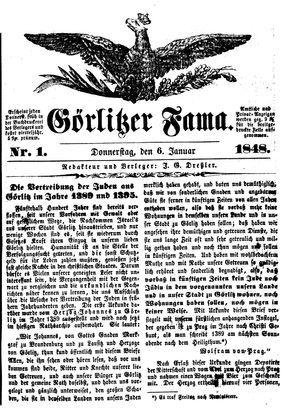 Görlitzer Fama vom 06.01.1848
