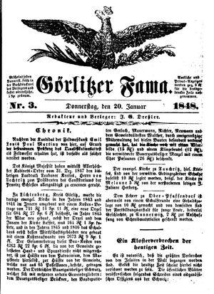 Görlitzer Fama vom 20.01.1848