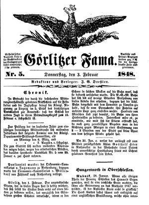 Görlitzer Fama vom 03.02.1848