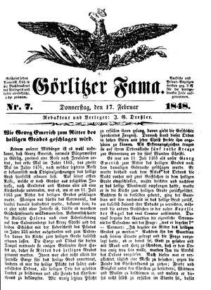 Görlitzer Fama vom 17.02.1848
