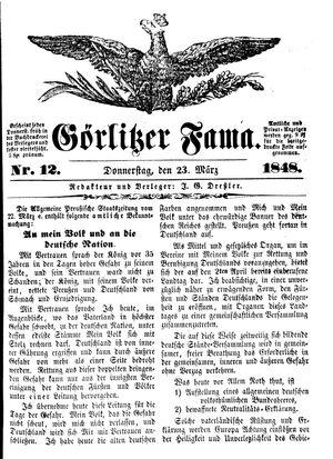 Görlitzer Fama vom 23.03.1848