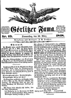 Görlitzer Fama vom 30.03.1848