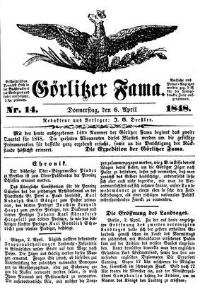 Görlitzer Fama vom 06.04.1848