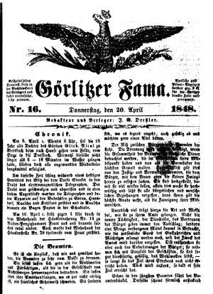 Görlitzer Fama vom 20.04.1848