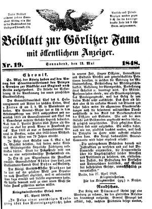 Görlitzer Fama vom 13.05.1848