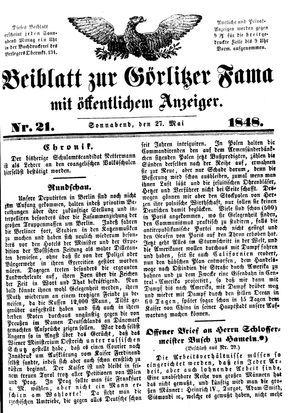 Görlitzer Fama vom 27.05.1848