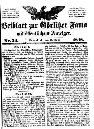 Görlitzer Fama vom 10.06.1848