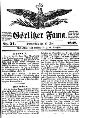 Görlitzer Fama vom 15.06.1848