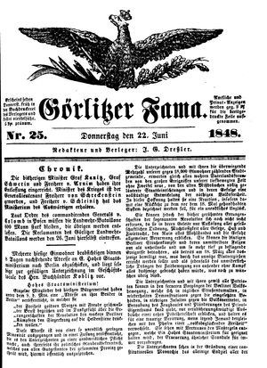 Görlitzer Fama vom 22.06.1848