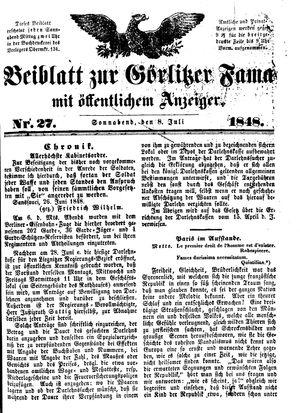 Görlitzer Fama vom 08.07.1848