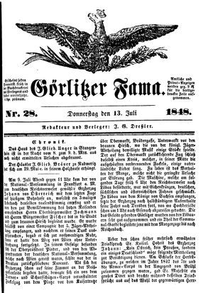 Görlitzer Fama vom 13.07.1848