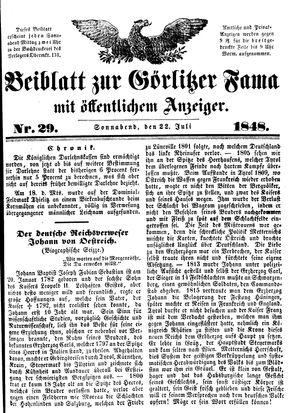 Görlitzer Fama vom 22.07.1848
