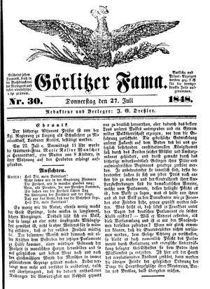 Görlitzer Fama vom 27.07.1848