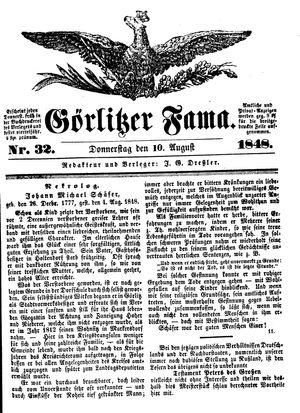 Görlitzer Fama vom 10.08.1848