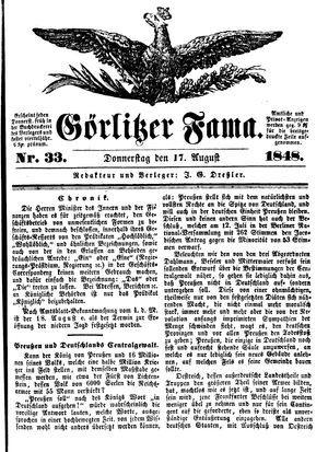 Görlitzer Fama vom 17.08.1848
