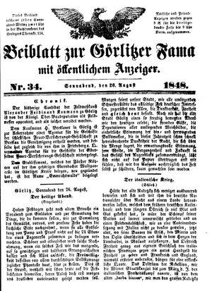 Görlitzer Fama vom 26.08.1848