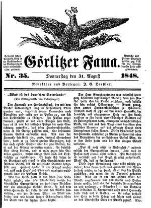 Görlitzer Fama vom 31.08.1848