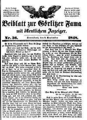 Görlitzer Fama vom 09.09.1848
