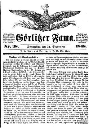 Görlitzer Fama vom 21.09.1848