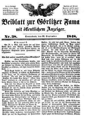 Görlitzer Fama vom 23.09.1848