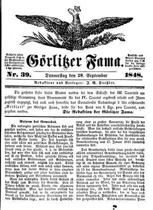Görlitzer Fama vom 28.09.1848