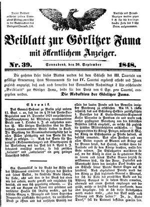 Görlitzer Fama vom 30.09.1848