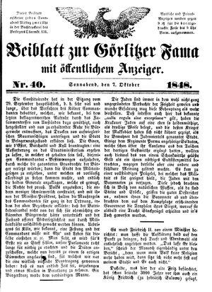 Görlitzer Fama vom 07.10.1848