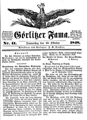 Görlitzer Fama vom 12.10.1848