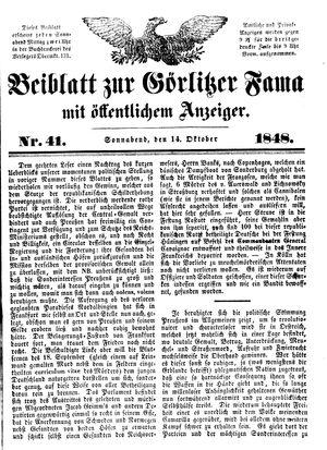 Görlitzer Fama vom 14.10.1848