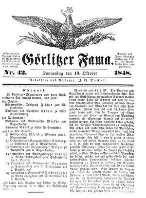 Görlitzer Fama vom 19.10.1848