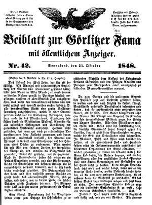 Görlitzer Fama vom 21.10.1848
