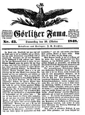 Görlitzer Fama vom 26.10.1848