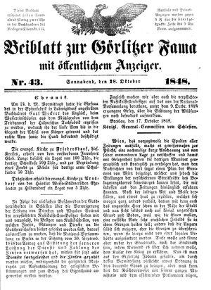 Görlitzer Fama vom 28.10.1848