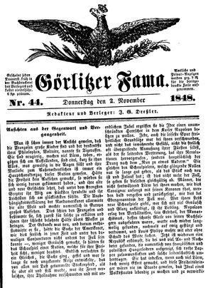 Görlitzer Fama vom 02.11.1848